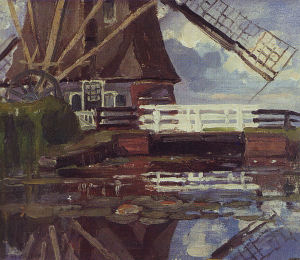 Mondrian A341 Truncated View of the Broekzijder Mill on the Gein, c.1902-03 or earlier