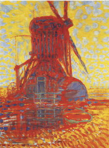 Mondrian A654 Molen (Mill): The Winkel Mill in Sunlight, 1908