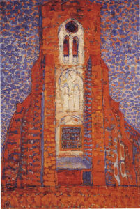 Mondrian A689 Zoutelande Church Facade, 1909-early 1910