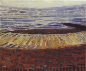 Mondrian A693 Sea after Sunset, 1909