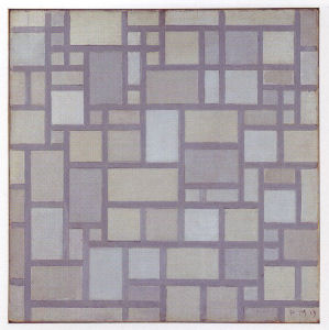 Mondrian B101 Composition with Grid 7, 1919