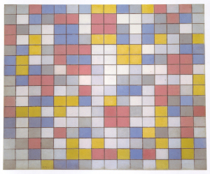 Mondrian B103 Composition with Grid 9: Checkerboard Composition with Light Colours 1919
