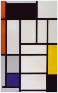 Mondrian B115 Composition with Red, Black, Yellow, Blue and Grey, 1921