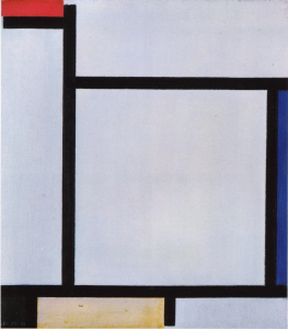 Mondrian B125 Composition with Red, Blue, Black, Yellow and Grey, 1921