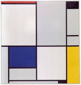 Mondrian B128 Tableau I with Red, Black, Blue and Yellow, 1921