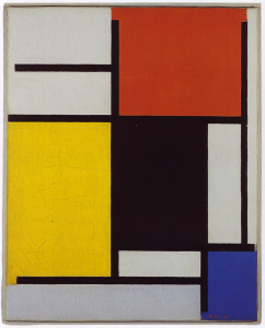Mondrian B131 Composition with Red, Yellow, Black, Blue and Grey, 1921