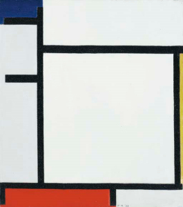 Mondrian B134 Composition with Blue, Yellow, Red and Grey, 1922