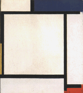 Mondrian B135 Composition with Blue, Black, Yellow and Red, 1922