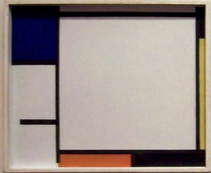 Mondrian B136 Composition with Blue, Black, Yellow and Red, 1922