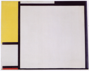 Mondrian B139 Composition with Yellow, Black, Blue, Red, and Grey, 1922