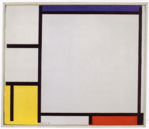 Mondrian B141 Composition with Blue, Yellow, Red and Black, 1922