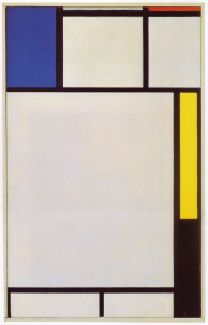Mondrian B142 Composition with Blue, Red, Yellow and Black, 1922