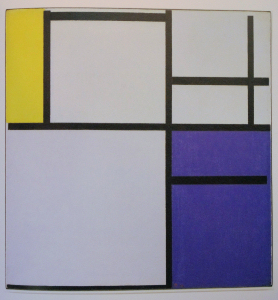 Mondrian B143 Composition with Yellow, Blue and Blue-White, 1922