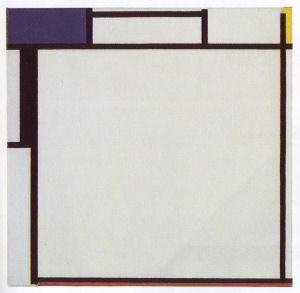 Mondrian B145 Composition with Blue, Yellow, Black and Red, 1922