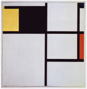 Mondrian B150Tableau with Yellow, Black, Blue, Red and Grey, 1923