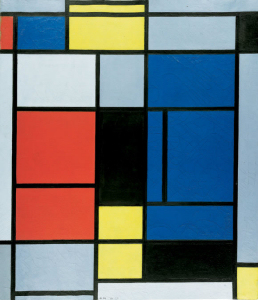 Mondrian B153 Tableau No.I with Red, Blue, Yellow, Black, and Grey, 1925