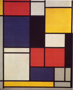 Mondrian B154 Tableau No.II with Red, Blue, Black, Yellow and Grey, 1925