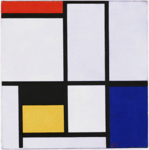 Mondrian B155 Tableau No.III with Red, Black, Yellow, Blue and Grey, 1925