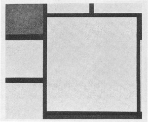 Mondrian B157 Tableau No.V with Red, Black, Gray and Blue, 1925