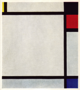 Mondrian B162 Tableau No.X with Yellow, Black, Red and Blue, 1925
