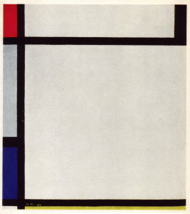Mondrian B163 Tableau No.XI with Red, Black, Blue and Yellow, 1925