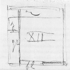 Mondrian B164 Tableau No.XII with Red, Yellow and Blue, 1925 sketch