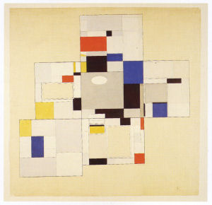 Mondrian B167a Designs for the Library-Study of Ida Bienert