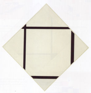 Mondrian B176 Tableau No.1: Lozenge with Four Lines and Grey, 1926
