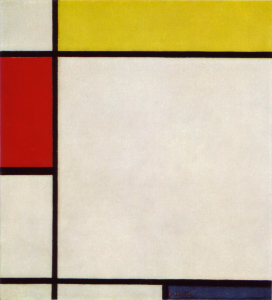 Mondrian B182 Composition with Red, Yellow and Blue, 1927