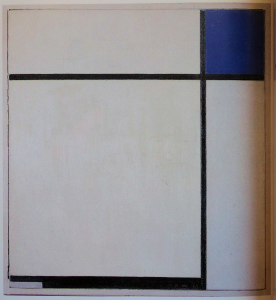 Mondrian B183 Composition with Blue, Black and Grey, 1927