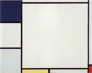 Mondrian B185 Composition with Blue, Yellow and Red, 1927