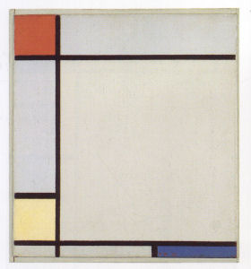 Mondrian B187 Composition with Red, Yellow and Blue, 1927