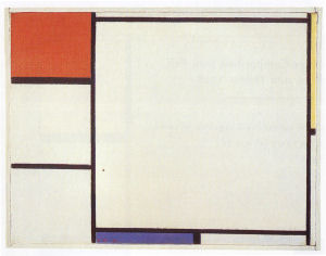 Mondrian B191 Composition with Red, Yellow and Blue, 1927