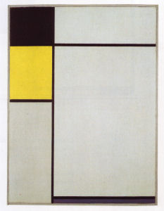 Mondrian B193 Composition No.1 with Black, Yellow and Blue, 1927