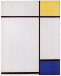 Mondrian B197 Composition with Yellow and Blue, 1927