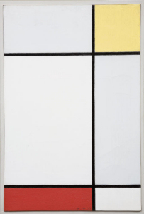 Mondrian B198 Composition with Yellow and Red, 1927