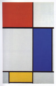 Mondrian B201 Large Composition with Red, Blue and Yellow, 1928