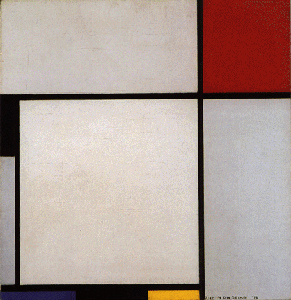 Mondrian B203 Composition with Red, Black, Blue, Yellow and Grey, 1928