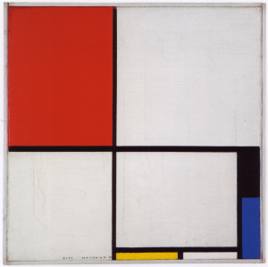 Mondrian B204 Composition with Red, Black, Blue and Yellow, 1928