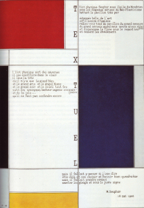 Mondrian B205 Tableau-Poème, with Text by Michel Seuphor, 1928