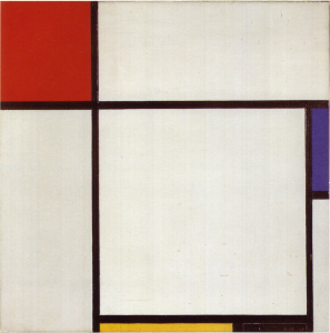 Mondrian B206 Composition with Red, Blue, Yellow and Black, 1929