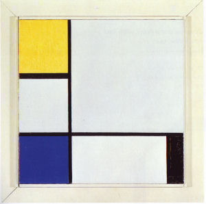 Mondrian B207 Composition with Yellow, Blue, Black and Light Blue, 1929