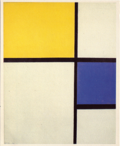 Mondrian B208 Composition No.I with Yellow and Blue, 1929