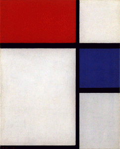 Mondrian B209 Composition No.II with Red and Blue, 1929