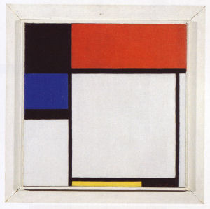 Mondrian B210 Composition No.III Fox-Trot B with Black, Red, Blue and Yellow, 1929