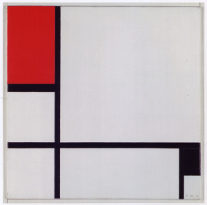 Mondrian B214 Composition No.I with Red and Black, 1929