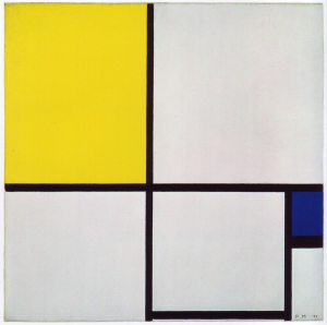 Mondrian B215 Composition No.II with Yellow and Blue, 1929