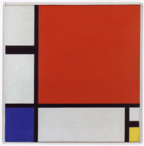Mondrian B217 Composition with Red, Blue and Yellow, 1930