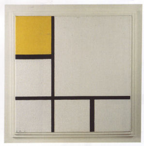 Mondrian B220 Composition No.1 with Yellow and Light grey, 1930