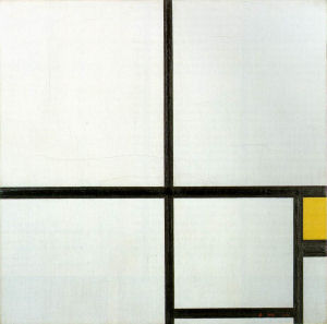 Mondrian B221 Composition with Yellow, 1930